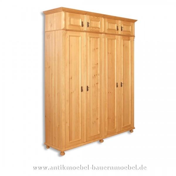 Wäscheschrank Kleiderschrank Schlafzimmerschrank Vollholz Massivholzmöbel Weichholz